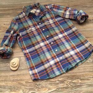 J. Crew Tartan Flannel Boy Shirt
